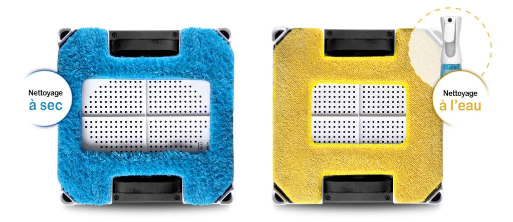 Les deux chiffons de E Ziclean Hobot square
